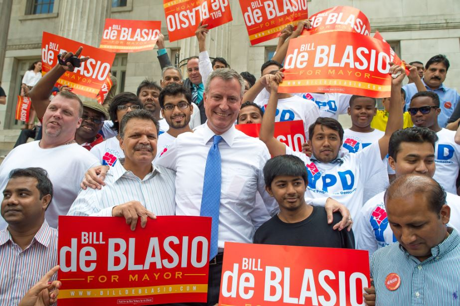 Supporters of Bill de Blasio during the New York City mayoral election campaign. (Source: Bill de Blasio, Flickr account)
